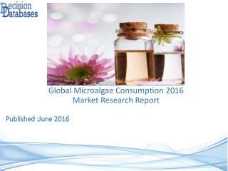 Microalgae Consumption Market Analysis 2016 Development Trends
