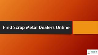 Find Scrap Metal Dealers Online