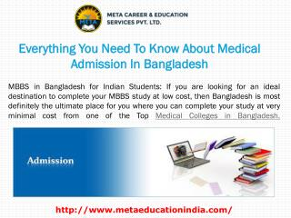 Everything You Need To Know About Medical Admission In Bangladesh
