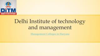 Best Management Colleges in Haryana
