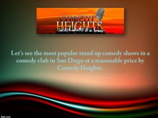 Comedy Clubs San Diego