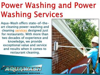 Power Washing and Power Washing Services