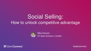 How to unlock competitive advantage in social selling