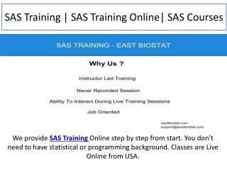 SAS Training