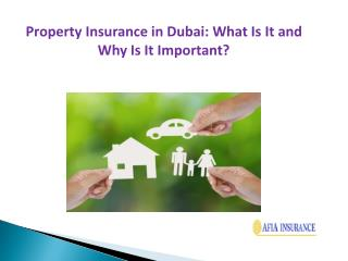 Property Insurance in Dubai