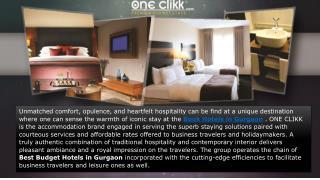 One Clikk Hotel Accommodation
