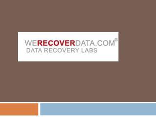 Data Recovery WeRecoverData