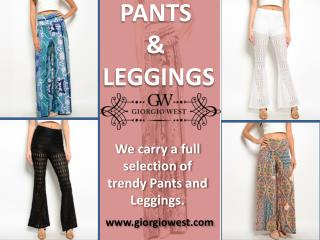 Shop Online Womens Pants, Leggings & Plazzo | Trendy Women's Clothing | Giorgio West