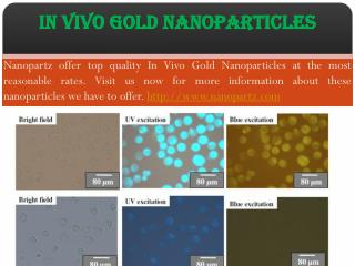 Lateral Flow Gold Nanoparticles