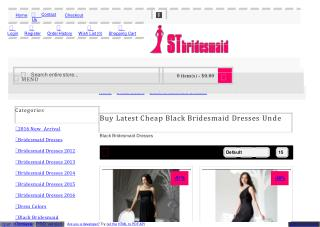 Buy Latest Cheap Black Bridesmaid Dresses