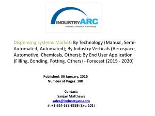Dispensing Systems Market Analysis - Forecast to 2020