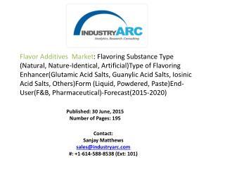 Flavor Additives and Enhancers Market Analysis