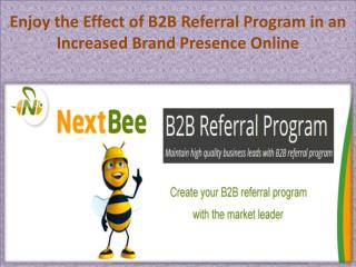 Enjoy the Effect of B2B Referral Program in an Increased Brand Presence Online