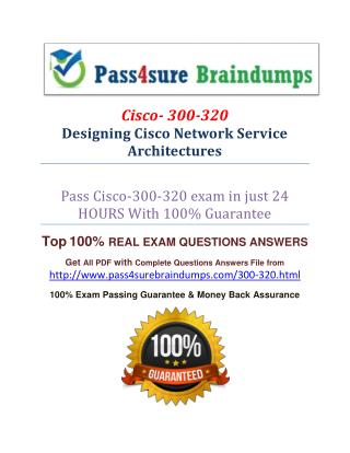 Pass4sure 300-320 Exam Dumps