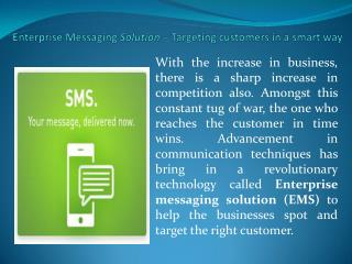Enterprise messaging solution – Targeting customers in a smart way