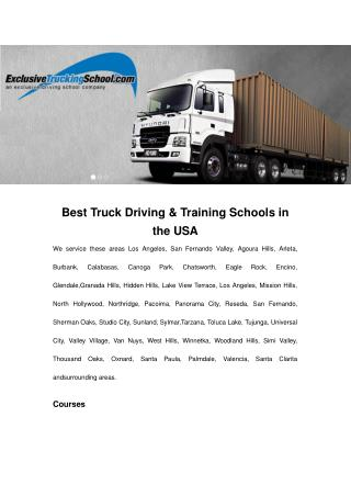 Best Truck Driving & Training Schools in the USA