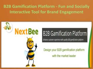 B2B Gamification Platform - Fun and Socially Interactive Tool for Brand Engagement