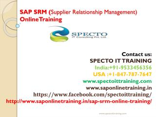 sap srm online training -sap drm online live training|specto