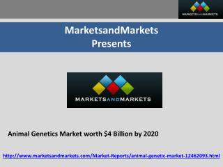 Animal Genetics Market worth $4 Billion by 2020
