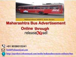 Maharashtra Bus Advertisement Booking online through releaseMyAd