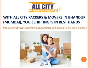 Packers and Movers in Bhandup (Mumbai) - All City Packers and Movers®