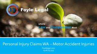 Personal Injury Claims WA – Motor Accident Injuries