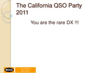 The California QSO Party 2011