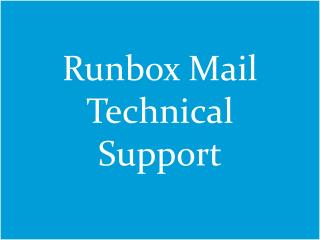 Runbox Mail Technical Support 1-888-551-2881