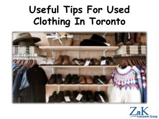 Useful Tips For Used Clothing In Toronto