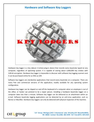 Hardware and Software Key Loggers