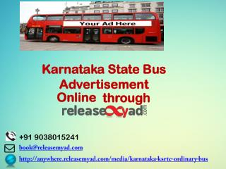 Karnataka Bus Advertisement Booking online through releaseMyAd