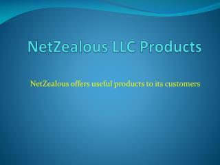 NetZealous LLC _Products