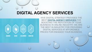 Digital Agency Services