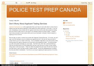 Why Provides Police Applicant Testing Services?