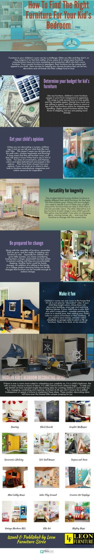 How To Find The Right Furniture For Your Kid's Bedroom