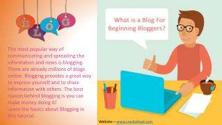 What is a Blog For Beginning Bloggers