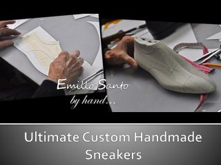 Ultimate custom handmade sneakers for men