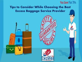 Tips to Consider While Choosing the Best Excess Baggage Service Provider