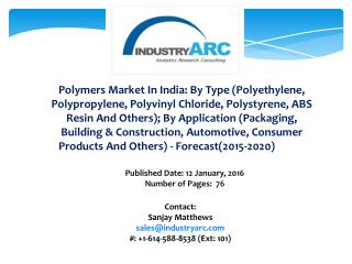Polymers Market in India
