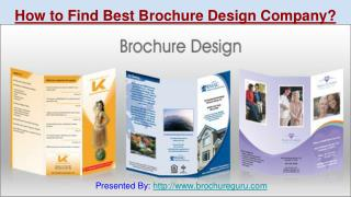 How to find best brochure design company?