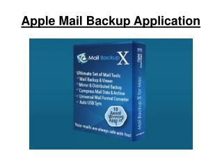 Apple Mail Backup Application