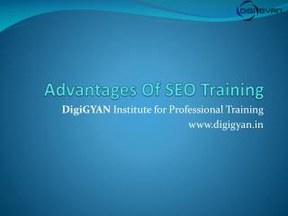 Advantages Of SEO Training