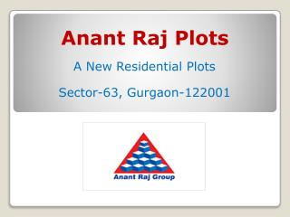 Anant Raj Plots � Residential Plots in Gurgaon Sec 63