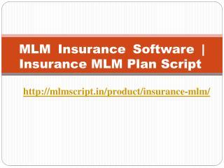 MLM Insurance Software | Insurance MLM Plan Script