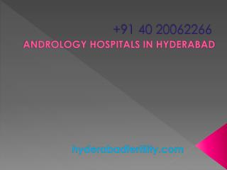 Andrology Hospitals in Hyderabad