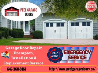 Garage Door Repair Brampton, Installation & Replacement Service