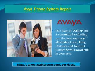 Avaya phone system repair