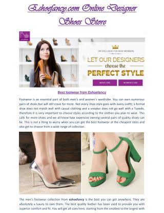 Eshoefancy.com - Eshoefancy perfect shoes- Eshoefancy Shoes For ladies & Gents