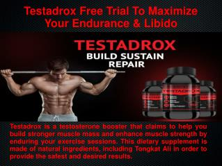 Risk-Free No Side Efact Use Testadrox Reviews