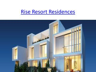 Rise Resort Residences | Rise Group | Noida Extension